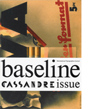 Image of Baseline International Typographics Journal, Issue 10 Cassandre Issue cover
