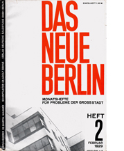 Image of Das Neue Berlin 2 – Martin Wagner, Adolf Behne cover