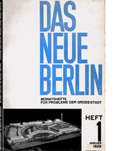 Image of Das Neue Berlin 1 – Martin Wagner, Adolf Behne cover